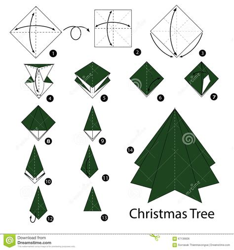 step by step instructions how to make origami christmas