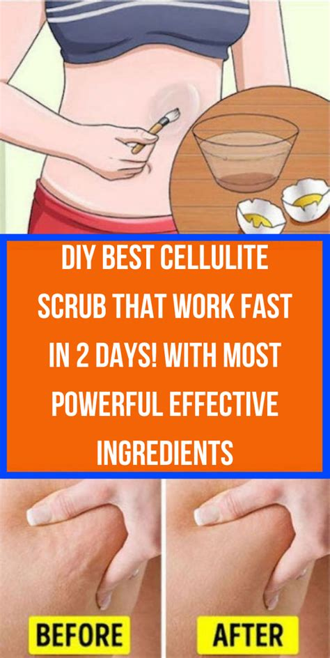 Scrubbing coffee grounds on your skin can reduce the appearance of cellulite temporarily. Wellness Tips: DIY Best Cellulite Scrub That Work Fast In 2 Days! With most Powerful Effective ...