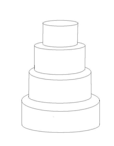 Tiered Planning Template by 4 Tier Cake Template Cakes Pinterest Tier Cake Cake