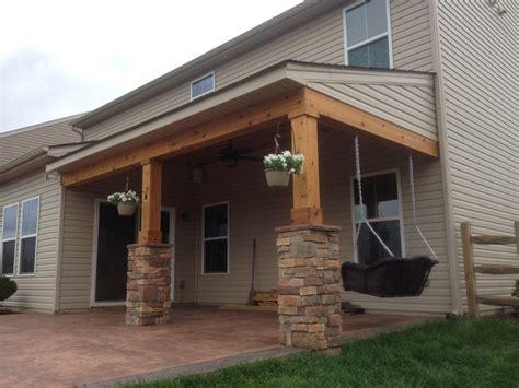 covered porch  cedar trim  cedar tongue  groove