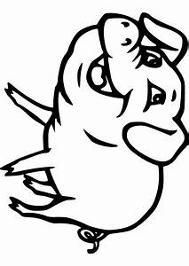 Pig Face Easy Coloring Pages