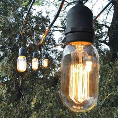 decorative outdoor string lights modern