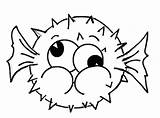 Fish Puffer Coloring Silly Pages Face Drawing Cartoon Cute Dog Drawings Games Pufferfish Print Starfish Kipper Getdrawings Getcolorings Printable Cat sketch template
