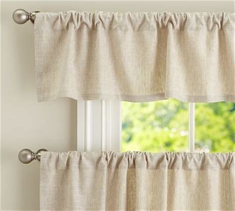 Pottery Barn Curtains Emery by Emery Linen Cafe Curtain 50 X 36 Quot Ivory Traditional