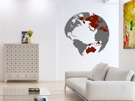 Wandtattoo Weltkugel 3d Welt Von Wandtattoo.de