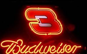 Nascar 3 Dale Earnhardt Budweiser Neon Light Sign 13