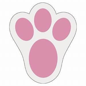 bunny paw print for template other seasonal diy and With bunny feet template printable