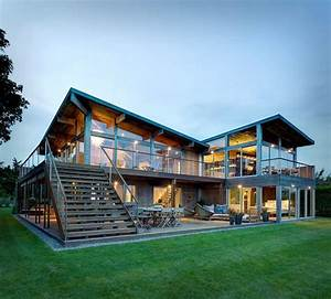 Earthy Timber Clad Interiors Vs  Urban Glass Exteriors  Cottage Design By Bates Masi Architects