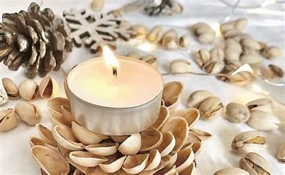 Homemade Pistachio Candlestick Illuminate Christmas American Candlesticks