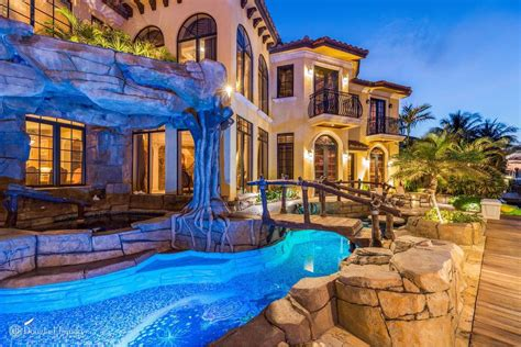 boca raton manse  waterfall grotto   curbed
