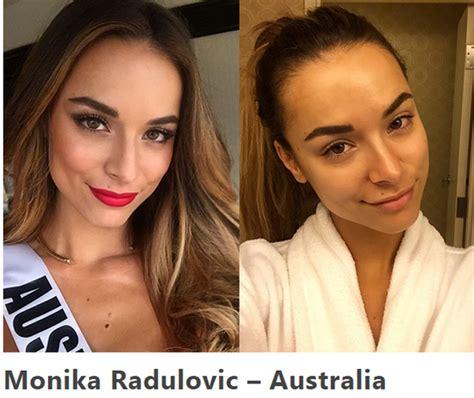 Jom Lihat Wajah Wajah Miss Universe Bermakeup Dan Tanpa