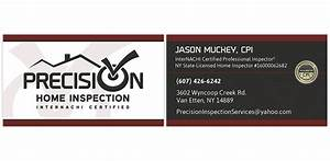 Precision home inspection internachi marketing for Home inspection business cards