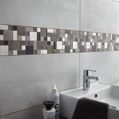 carrelage mural mosaique cuisine fa 239 ence mur gris clair denver l 30 x l 60 cm leroy merlin