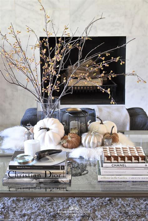 The coffee table is the center of focus in your living space. Warm and Cozy Fall Coffee Table Styling | Coffee table styling, Elegant home decor, Decorating ...