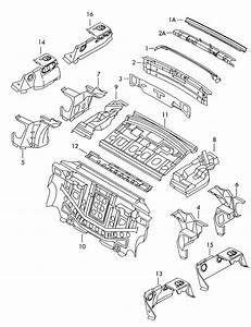 2002 Audi A6 Quattro Reinforcement Rear Apron  Rear Panel