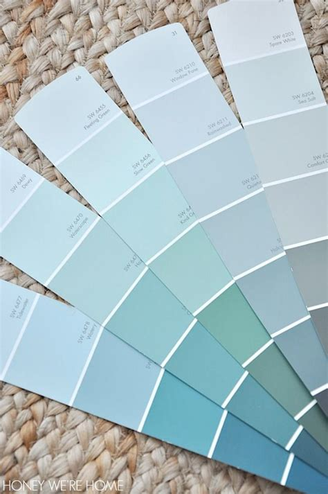 sherwin williams sea salt vs nearby colors on the color