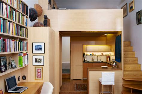 rent a desk nyc 240 sf micro apartment in nyc with library and loft
