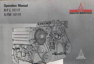 Deutz Engine B F L 1011 F  U0026 B Fm 1011f Operators Manual