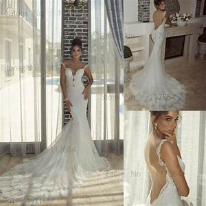 elegant mermaid style sweetheart off shoulder royal train With lace wedding dress designers