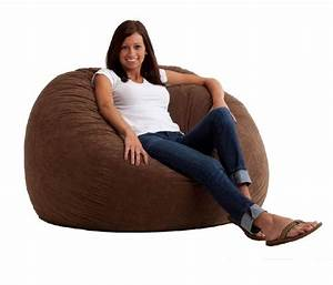 Suede, Bean, Bag, Chair, Lounge, Comfort, Soft, Fabric, Foam, Brown, Large, Dorm, Room, Seat