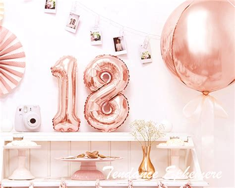 ballon aluminium rond rose gold cm decoration tendance