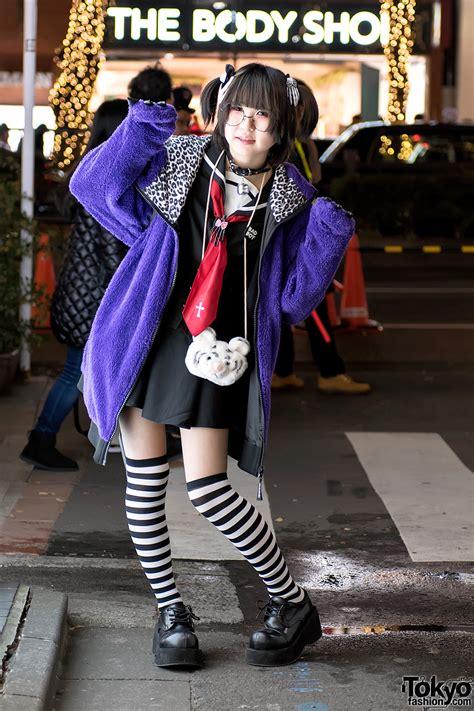 Harajuku Girl w/ Japanese Sailor Dress, Monster Hoodie ...