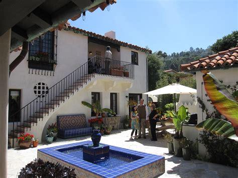 hacienda style courtyard   home pinterest