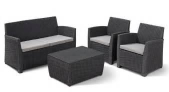 Allibert Salon Jardin by Allibert Garden Furniture Lounge Set Corona Rattan Plastic