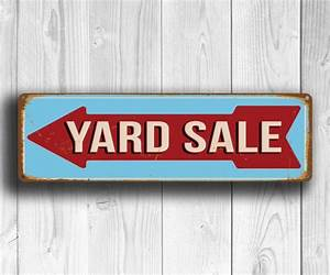 Yard Sale Sign | Directional Yard Sale Sign | Yard Sale ...