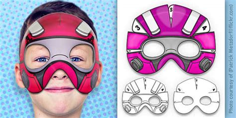 robot superhero mask printable teacher