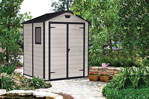 keter manor outdoor plastic garden storage shed 6 x 5