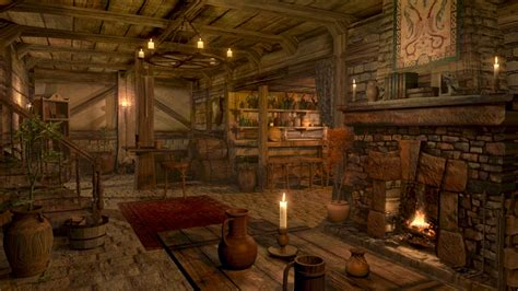 fireplace sounds medieval tavern inn ambience  hour