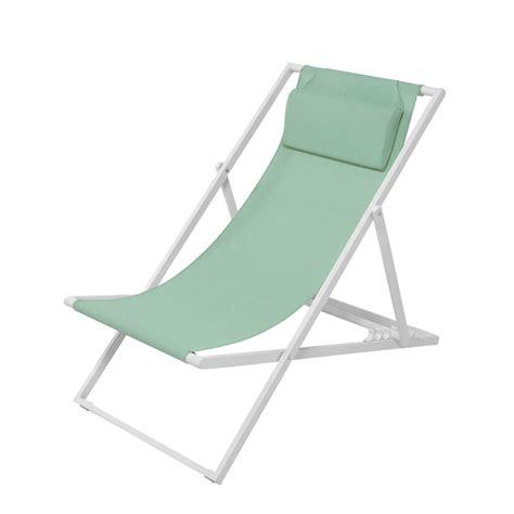 la chaise verte chaise longue chilienne en métal et toile plastifiée