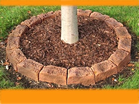 tree of rings fast easy tree mulch ring faux edging faux
