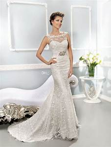 2014 collection best selling illusion neckline covered With best online wedding dresses