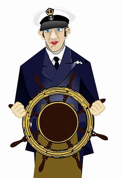 Captain Ship Sailor Wheel Steering Nautical Navigator