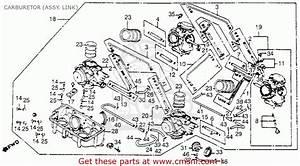 Honda Vf1100c Magna 1983  D  Usa Carburetor  Assy  Link