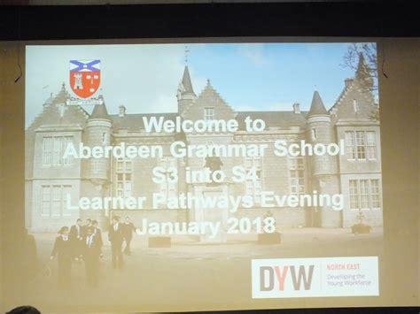 learner pathways event pupil feedback aberdeen grammar school