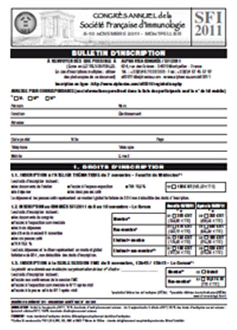 apha registration form annual meeting of the french society for immunology