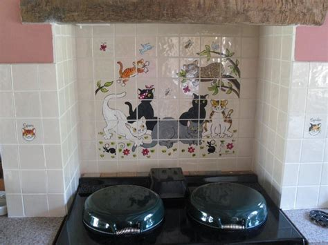 hand painted kitchen tiles  tile murals