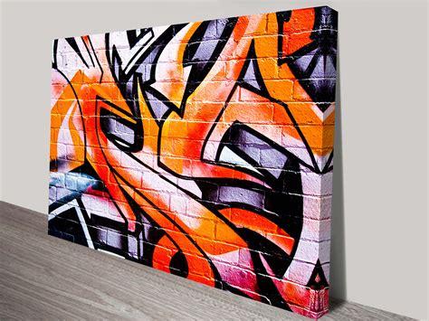Graffiti Orange : Orange Abstract Street Art Canvas