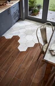Carrelage Mural Hexagonal : carrelage hexagonal blanc et parquet carrelage de maison ~ Carolinahurricanesstore.com Idées de Décoration