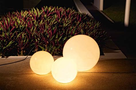 globe outdoor lighting outdoor planters with light