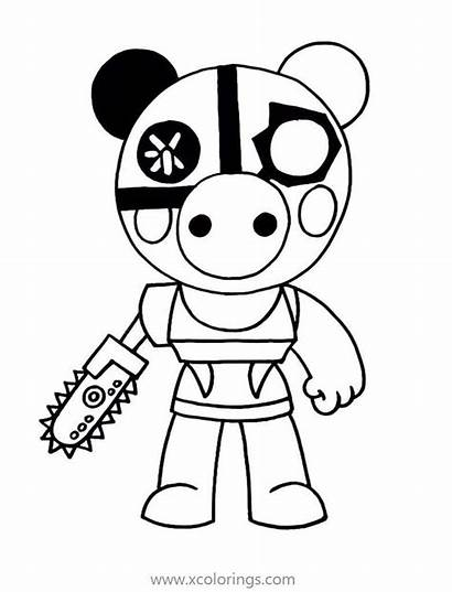 Piggy Roblox Coloring Pages Robby Parasee Printable
