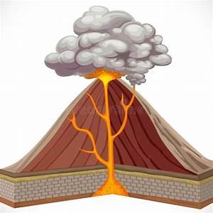 Diagram Of Volcano Stock Vector  Illustration Of