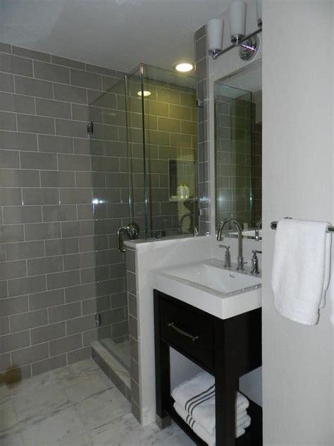 gray  white bathroom tile ideas  pictures
