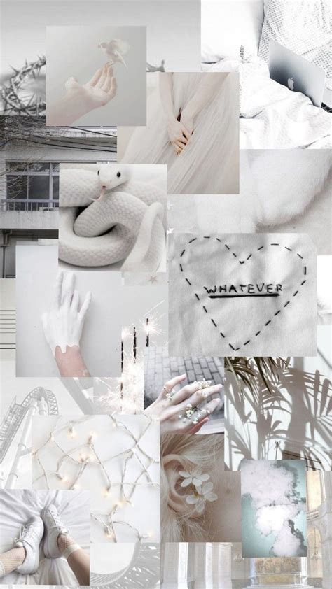 aesthetic wallpaper collage white