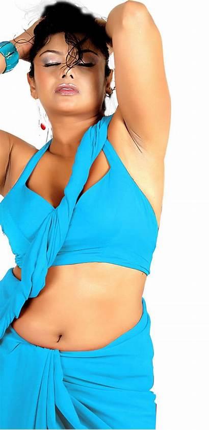 Verma Swathi Navel Actress Saree Below Indian