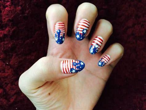 american flag nail art designs ideas    july
