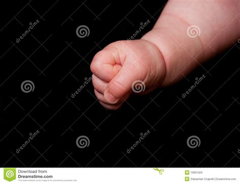 Clenched Baby Fist Stock Images Image 13631324